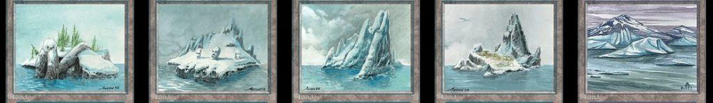 冠雪の島と島と浮氷塊 問題