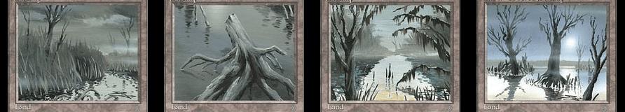 冠雪の沼と沼3枚